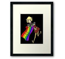 Proud pretty elf Sera - Dragon age Framed Print