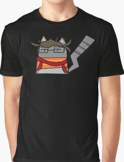 Hyper Fan Girl Cat Graphic T-Shirt