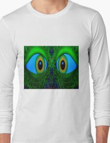 """""""THE EYES HAVE IT"""" Psychedelic Print Long Sleeve T-Shirt"""