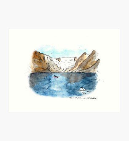 Gletscherblick (Glacier View) Art Print
