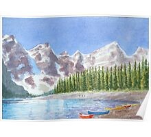Alpine lake by George Poster