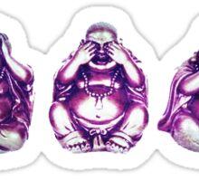 3 buddhas Sticker