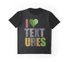 I Love Textures (Black) Graphic T-Shirt