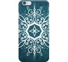 Mandala Teal and White iPhone Case/Skin