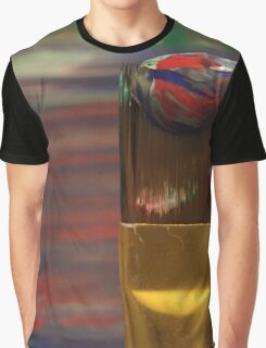 Marbled Paint Brush Graphic T-Shirt