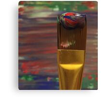 Marbled Paint Brush Canvas Print