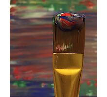 Marbled Paint Brush Photographic Print