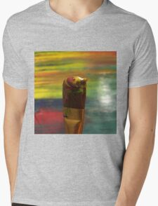 Impressionist Brush Mens V-Neck T-Shirt
