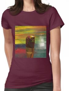 Impressionist Brush Womens Fitted T-Shirt