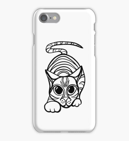 stalky cat iPhone Case/Skin