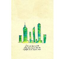 Paper Towns quote Photographic Print