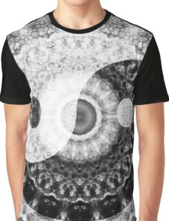 Ideal Balance Black And White Yin and Yang by Sharon Cummings Graphic T-Shirt