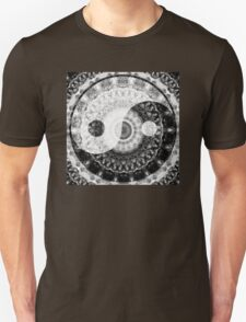 Ideal Balance Black And White Yin and Yang by Sharon Cummings Unisex T-Shirt
