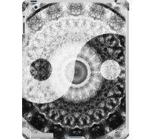 Ideal Balance Black And White Yin and Yang by Sharon Cummings iPad Case/Skin