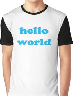 Cute Baby Jumpsuit PJ - Hello World - T-Shirt Graphic T-Shirt
