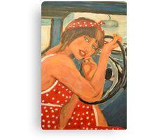 Rockabilly girl Canvas Print