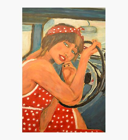 Rockabilly girl Photographic Print
