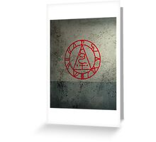The Seal of Metatron (Red) Greeting Card
