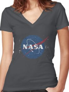 nasaa Women's Fitted V-Neck T-Shirt