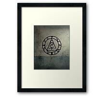 The Seal of Metatron (Black) Framed Print