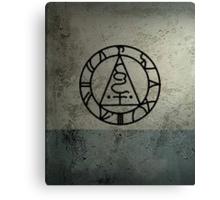 The Seal of Metatron (Black) Canvas Print