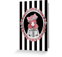 Gothic Rose Lady in the Mirror Greeting Card