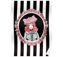 Gothic Rose Lady in the Mirror Poster