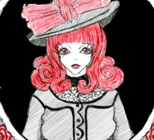 Gothic Rose Lady in the Mirror Sticker