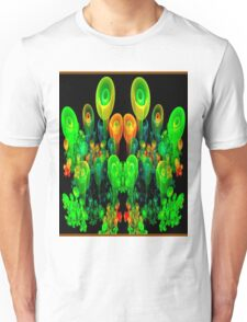 """PSYCHEDELIC FLOWER GARDEN"" Art Deco Print Unisex T-Shirt"
