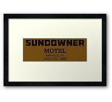 SUNDOWNER MOTEL PREACHER Framed Print