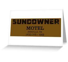 SUNDOWNER MOTEL PREACHER Greeting Card