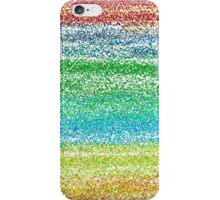 Faux Glitter Rainbow Stripes iPhone Case/Skin
