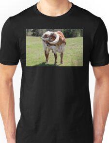 Texas Brown and White Longhorn Bull Unisex T-Shirt