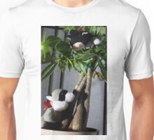 Raccoon and Cat Hide and Seek Unisex T-Shirt