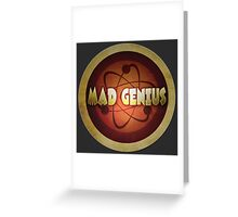 Logo - Mad Genius Greeting Card