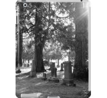 Fair Oaks Cemetery Black & White iPad Case/Skin