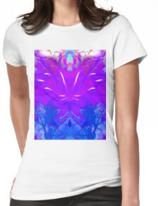 """""""PSYCHEDELIC FOREST"""" Art Deco Garden Print Womens Fitted T-Shirt"""