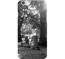 Fair Oaks Cemetery Black & White iPhone Case/Skin