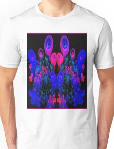 """""""ABSTRACT FLOWER GARDEN""""Psychedelic Print Unisex T-Shirt"""