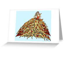 Pizza Dress Greeting Card