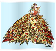 Pizza Dress Poster