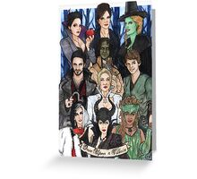 Once Upon A Villain Greeting Card