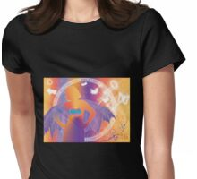 Purple Wings and a Radiant Heart Womens Fitted T-Shirt