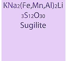 SU: Sugilite Chemical Formula Photographic Print