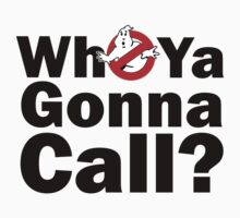 Who ya gonna call? (black) Ghostbusters Baby Tee