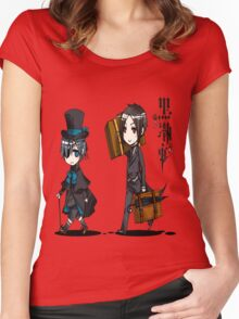 Black Butler Travel Chibis Women's Fitted Scoop T-Shirt