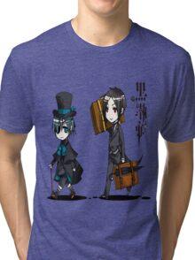 Black Butler Travel Chibis Tri-blend T-Shirt