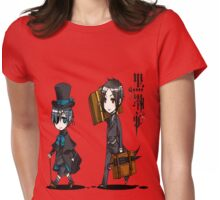 Black Butler Travel Chibis Womens Fitted T-Shirt