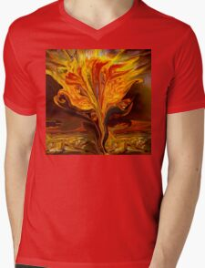Flame of Love- Abstract 114-   Art + Products Design  Mens V-Neck T-Shirt