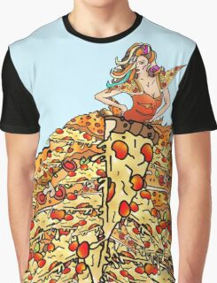 Pizza Dress Graphic T-Shirt